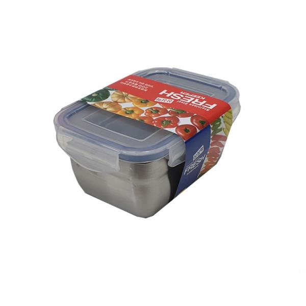싱싱락 스텐 밀폐용기 2호 중형 1.1L