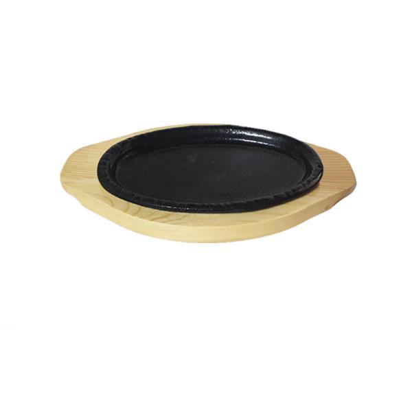 나무밑판 주물 점타원 스테이크판 1호