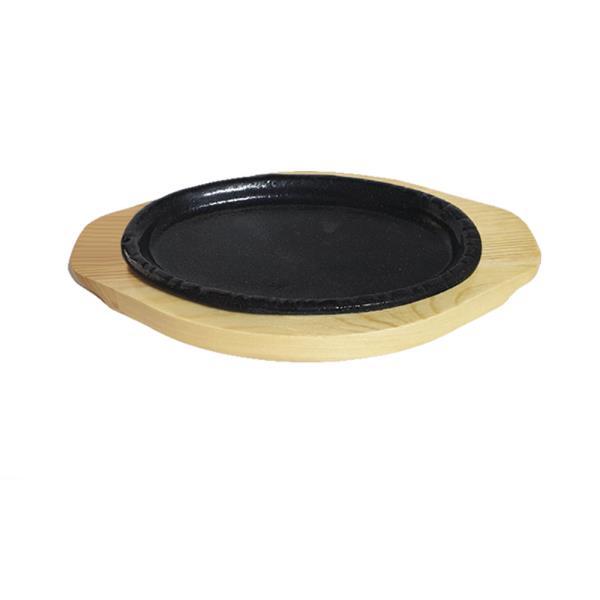 나무밑판 주물 점타원 스테이크판 2호