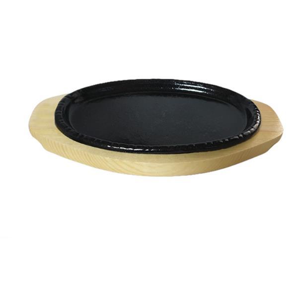 나무밑판 주물 점타원 스테이크판 3호