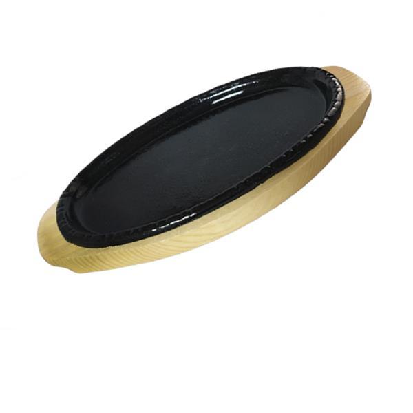 나무밑판 주물 점타원 스테이크판 4호