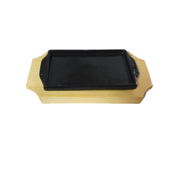 나무밑판 주물 신형사각 장어스테이크판 1호