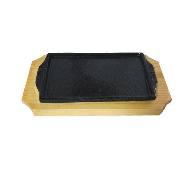 나무밑판 주물 신형사각 장어스테이크판 2호