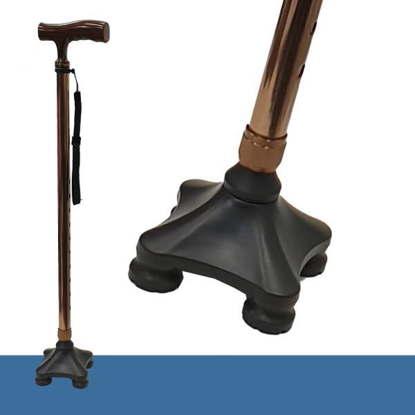 웰비 미니 사발 접이식 다족 노인지팡이