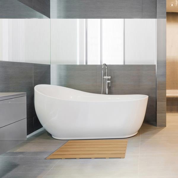 삼정 디럭스 오크 사각 욕실발판 중형
