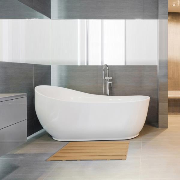 삼정 디럭스 오크 사각 욕실발판 대형