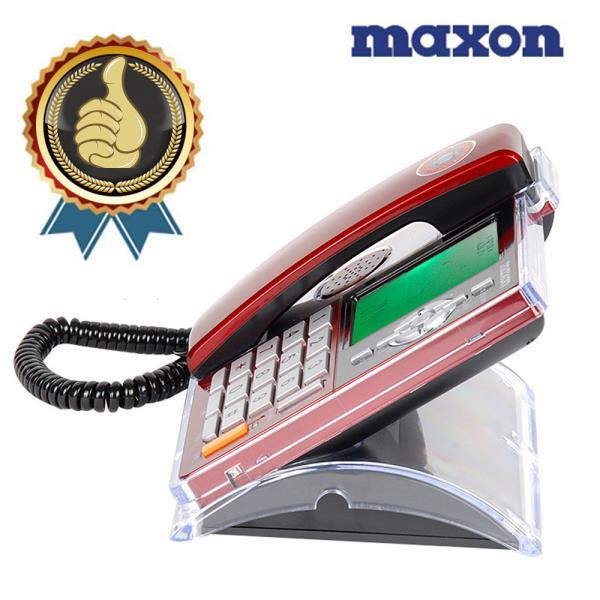 맥슨207 선명액정 투명아크릴커버 유선전화기