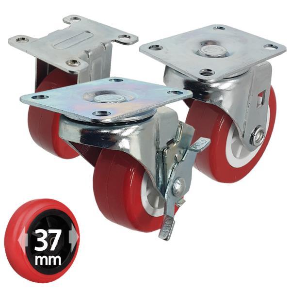 국산 우레탄 카트캐스터 대차바퀴 1.5호 37mm