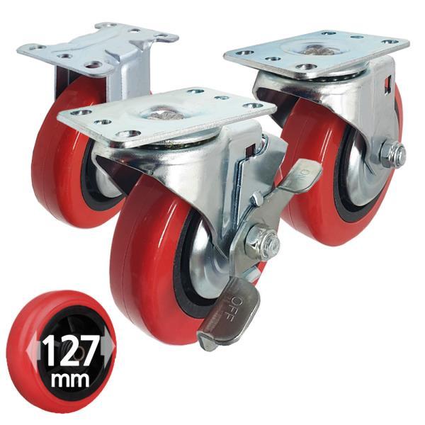국산 우레탄 카트캐스터 대차바퀴 5호 127mm