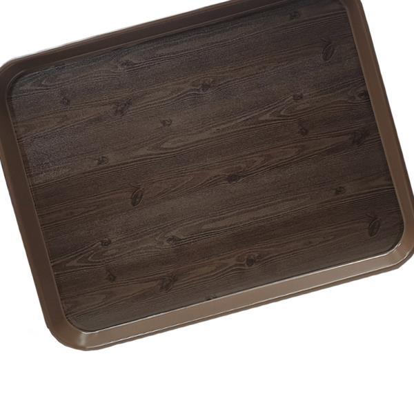 옹이 나무무늬 업소용 사각쟁반 9호