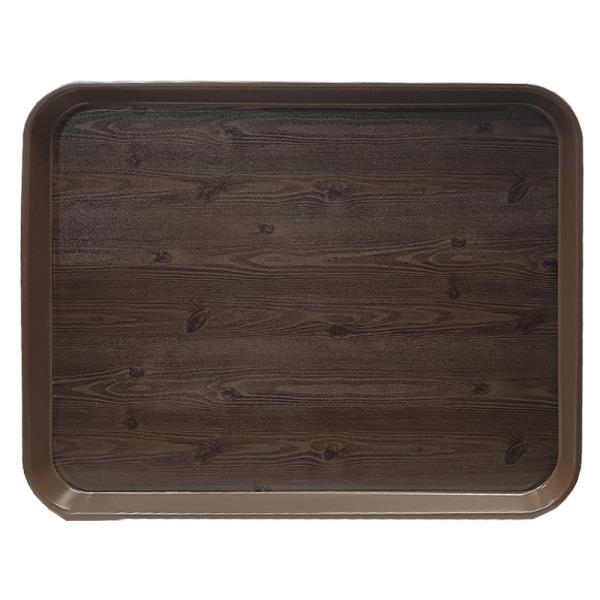 옹이 나무무늬 업소용 사각쟁반 7호