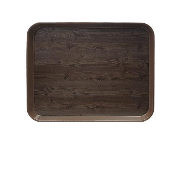 옹이 나무무늬 업소용 사각쟁반 4호