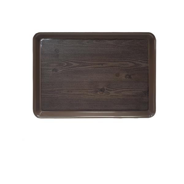 옹이 나무무늬 업소용 사각쟁반 3호