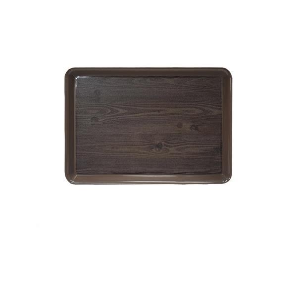 옹이 나무무늬 업소용 사각쟁반 1호