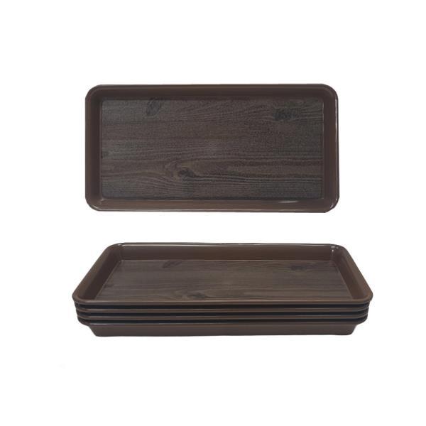 옹이 업소용 미니 직사각 사각쟁반 5개