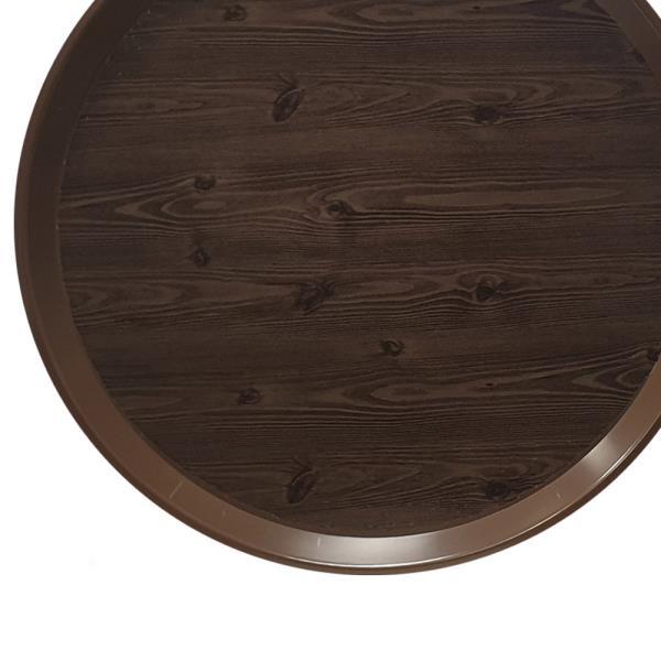 옹이 나무무늬 업소용 원형쟁반 4호