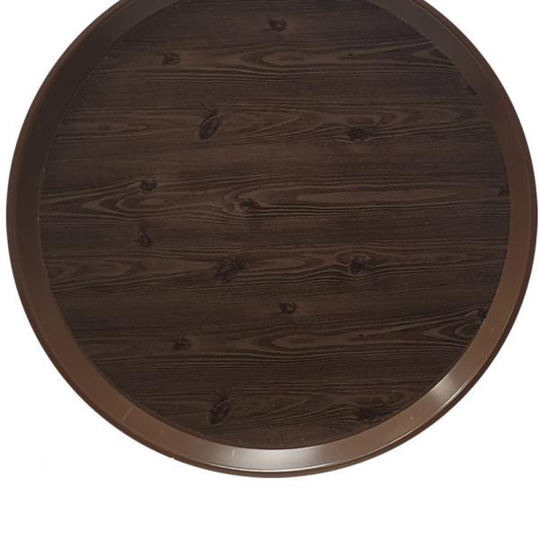 옹이 나무무늬 업소용 원형쟁반 3호