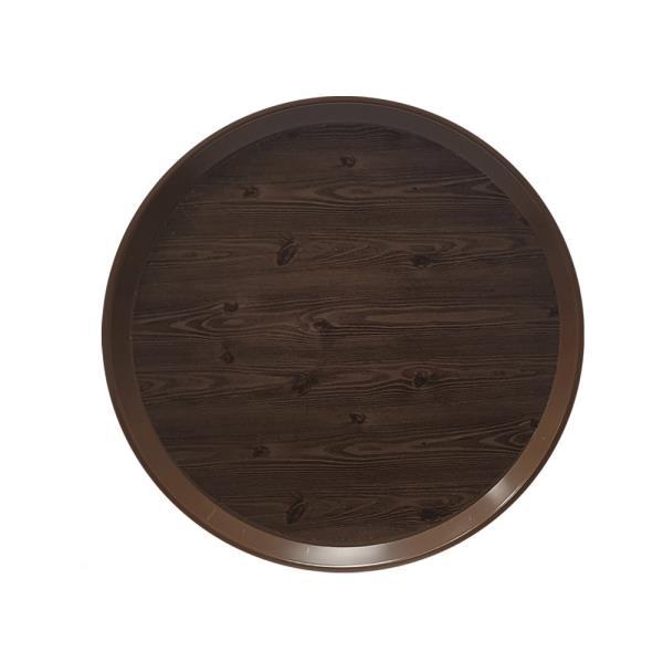 옹이 나무무늬 업소용 원형쟁반 1호