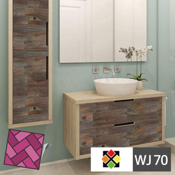 스티커 내담쇼핑몰 데코스티커 주방 욕실 포인트 접착식 셀프 리모델링 두께4T 스티커타일 WJ70 원목나무무늬 테코타일