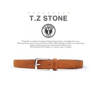 (티지스톤)-TZ1D104LB 클래식 스웨이드 연브라운벨트