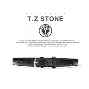 (티지스톤)-TZ1D102BK 클래식 타조패턴 블랙벨트