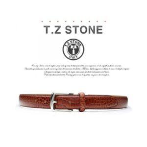 (티지스톤)-TZ1D101LB 클래식 악어패턴 연브라운벨트