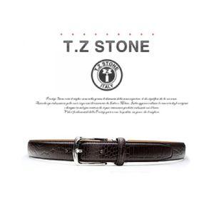 (티지스톤)-TZ1D101DB 클래식 악어패턴 다크브라운벨트