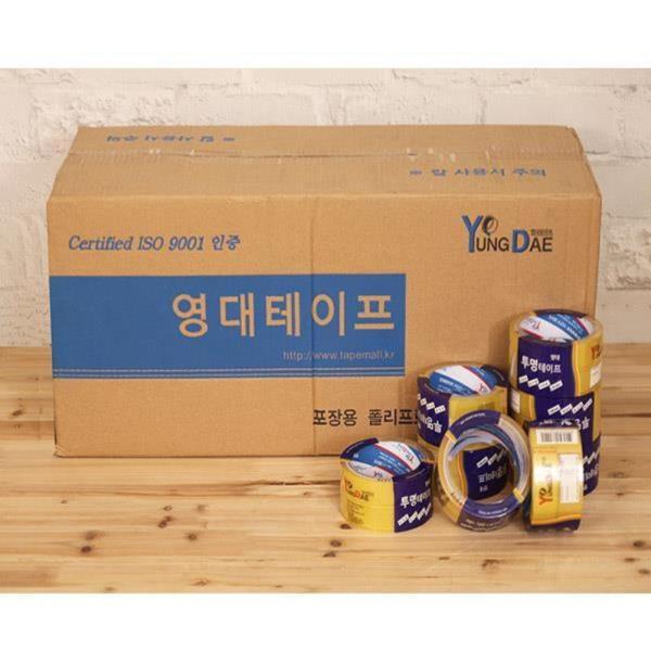 [BOX]영대투명2절테이프(24mm*25m)/50개입