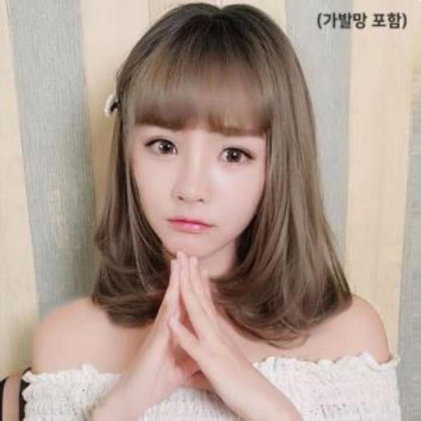 단발가발 귀여운머리 뱅스타일_망포함
