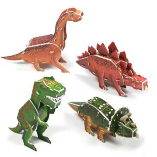 크래커플러스 공룡4종(1) 3D입체 종이퍼즐 (PCP010T)