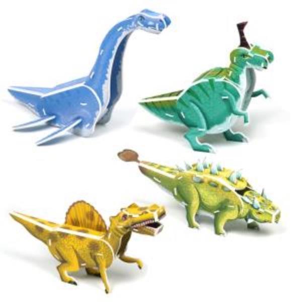 크래커플러스 공룡4종(2) 3D 입체 종이퍼즐 (PCP010W)