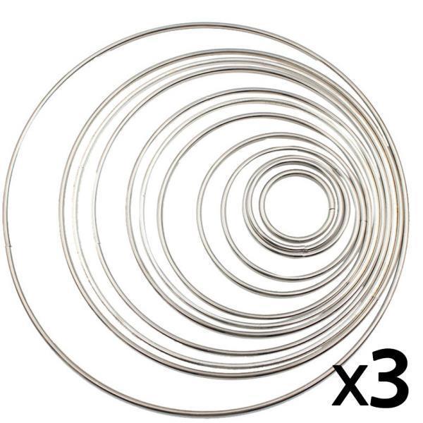 드림캐쳐 링 마크라메 재료 은색  3개 5cm