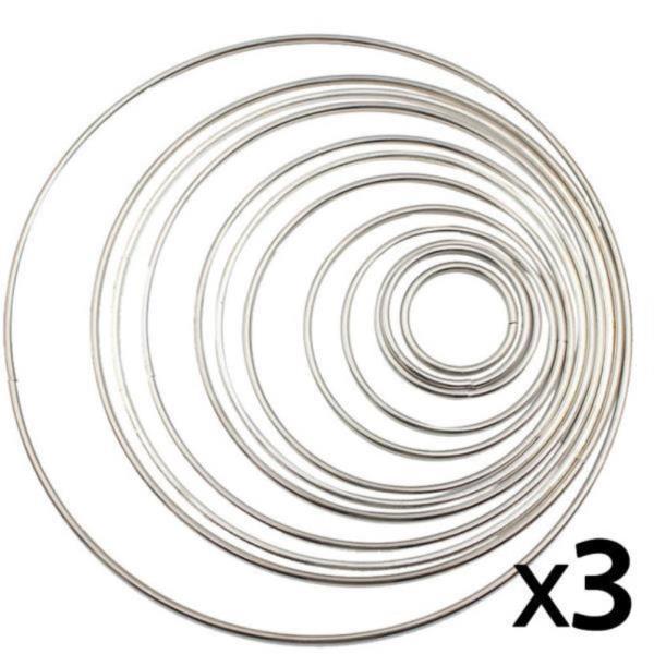 드림캐쳐 링 마크라메 재료 은색  3개 10cm