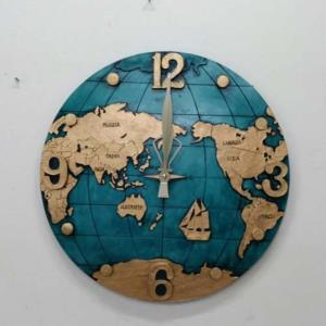 벽시계 시계 내담쇼핑몰 벽걸이 인테리어시계 지구본 저소음 소품 벽시계 지구본벽시계 대형지구본벽시계 블루
