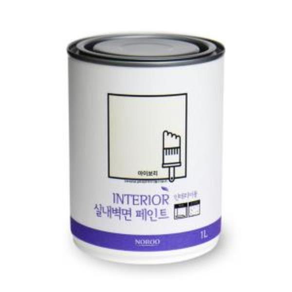 벽지페인트 벽지용 순환경 노루표 1L 화이트