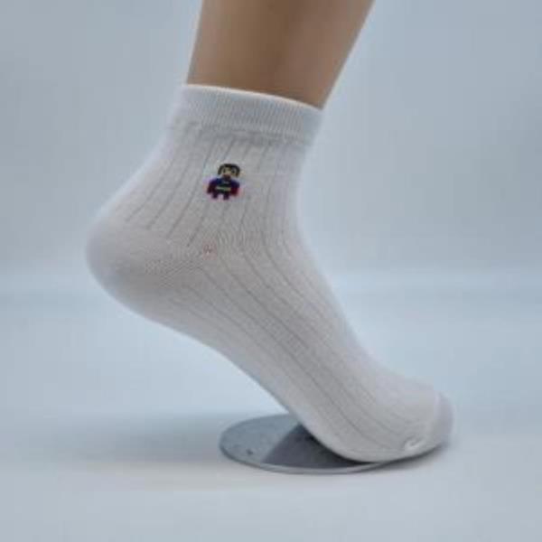 여자 숙녀여성 여학생 발목양말 흰색 만화아이콘 5족