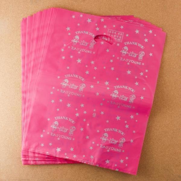 비닐 양장비닐봉투 핑크 35cm 100p다용도