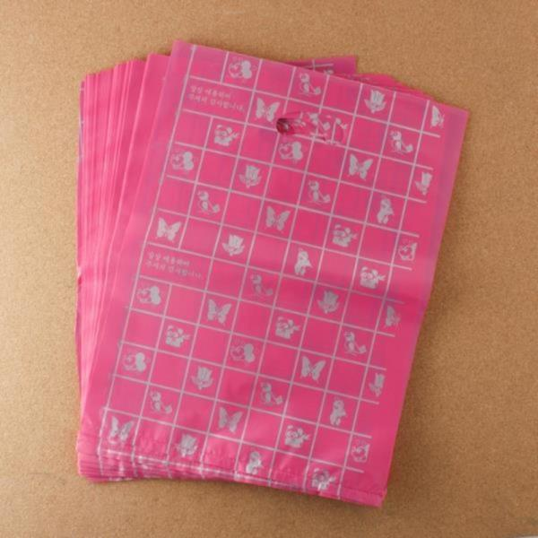 비닐 양장비닐봉투 핑크 30cm 100p다용도
