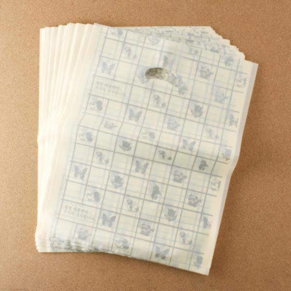 비닐 양장비닐봉투 베이지 30cm 100p다용도