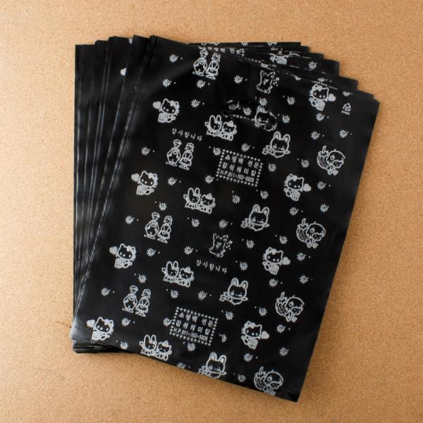 비닐 양장비닐봉투 블랙 27cm 100p다용도