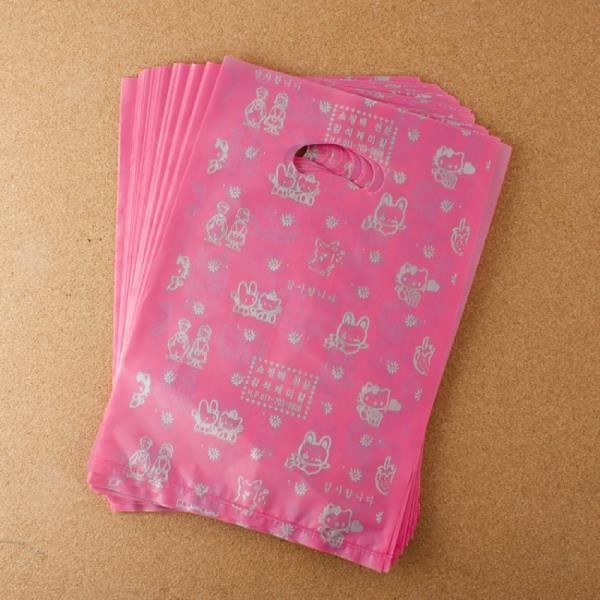 비닐 양장비닐봉투 핑크 22cm 100p다용도