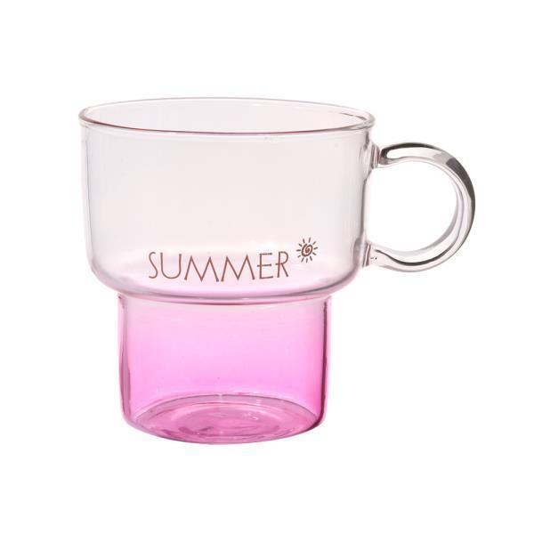 피크니 유리잔 2p세트(300ml)(썸머)유리컵 주스컵