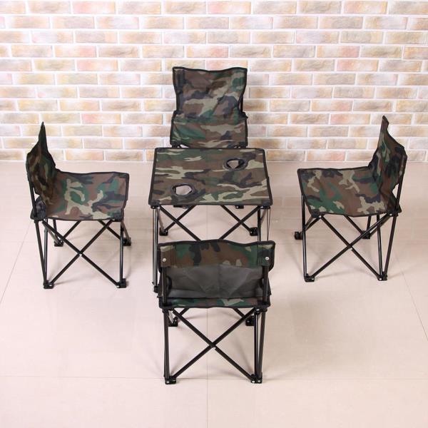 내담쇼핑몰 캠핑가구 이지캠프 4인용 캠핑의자 테이블 세트