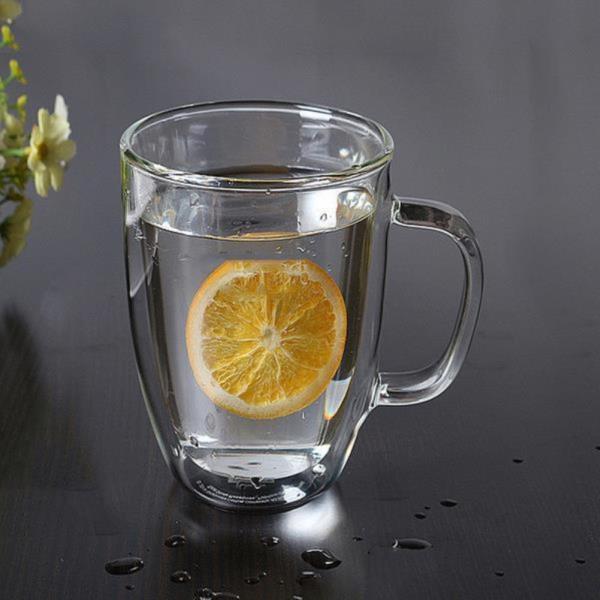 [로하티]바오 뚜껑 유리컵(430ml) 이중유리 머그컵