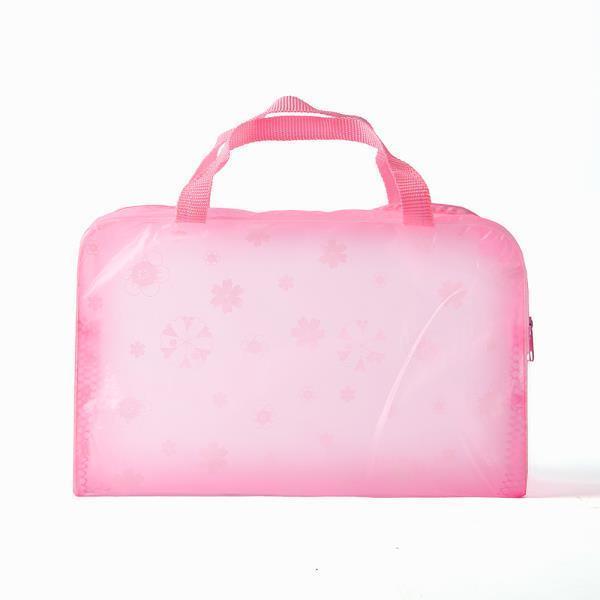 파스텔눈꽃 디자인 비치백바캉스용 투명가방