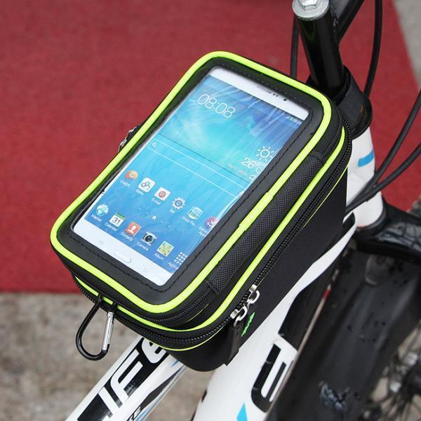 터치가능 자전거 스마트폰가방2단 접착 자전거백