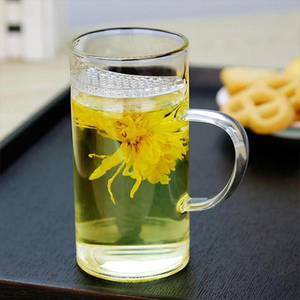 내열유리 티머그유리컵,투명찻잔 투명유리잔 유리찻잔 세트 플라워유리찻잔 이중유리찻잔세트 골드림유리찻잔 받침 이중유리찻잔
