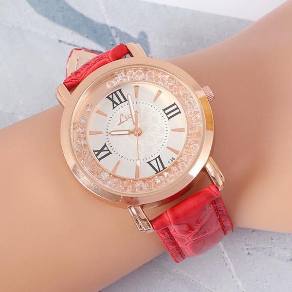 메탈 넬슈 가죽 손목시계 아날로그 선물 연인 정장시계  패션시계 여성시계