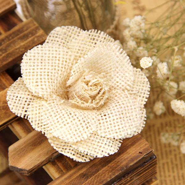 DIY부자재 데코 장미꽃(베이지) 리폼재료 장식부자재