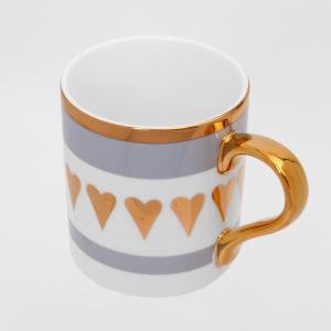 머그잔 컵 도자기 내담쇼핑몰 신혼 선물 예쁜 답례품 카페 북유럽풍 홈카페 사무실 골드링 하트350ml 홈카페 도자기머그잔
